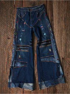Free People Vintage Embroidered Jeans, $398.00