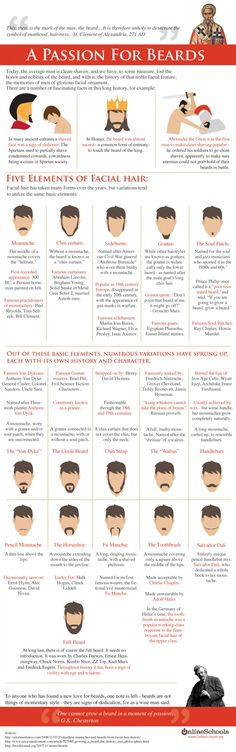 A Passionate  for Beards  Infographic