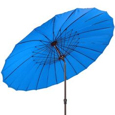 Bracken Outdoors 3m Round Shanghai Garden Parasol Blue