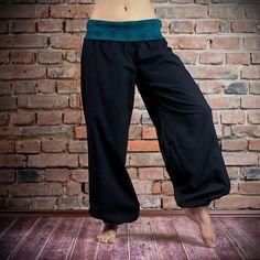 Thao - Kalhoty Ornament černé s petrolejovou Harem Pants, Jewellery, Clothes, Fashion, Outfits, Moda, Harem Trousers, Jewels, Clothing