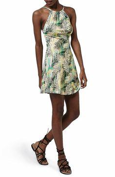 Topshop Tropical Print Flippy Dress
