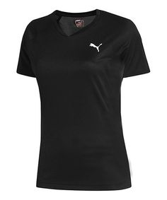 Take a look at this Black Running Short-Sleeve Tee by PUMA on #zulily today! $17 !!