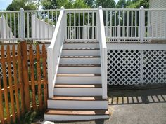 Deck and new wood fence we did in Berkley Ma..