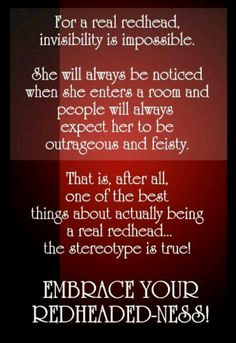 i don't know about the feisty for my redhead, but ages outrageous and awesomAZING fo sho! Redhead Facts, Redhead Quotes, Redhead Funny, Quotes About Redheads, Redhead Girl, Natural Redhead, Beautiful Redhead, Fiery Redhead, Beautiful Wife
