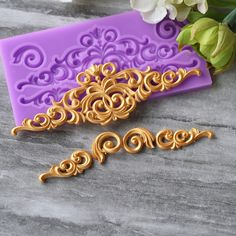 1 peça de silicone Fronteira molde fondant ferramentas de decoração do bolo de chocolate do molde molde gumpaste CK SM 134 em   de   no AliExpress.com | Alibaba Group