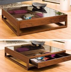 A classic idea given a contemporary twist, this coffee table is great for… Dieser Couchtisch ist ein Centre Table Design, Tea Table Design, Wood Table Design, Home Decor Furniture, Table Furniture, Luxury Furniture, Furniture Design, Italian Furniture, Centre Table Living Room