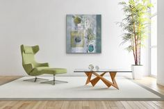 """Abstract Art, Expressionism, Contemporary Painting """"BOUNDLESS POSSIBILITIES"""" by Contemporary Artist Liz Thoresen-This new painting is Acrylic on Cradled Board and is Available. Watercolor Paintings, Original Paintings, Original Art, Green Paintings, Flower Paintings, Oil Paintings, Painting Art, Hygge, Canvas Frame"""