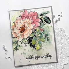 Norine Borys: Altenew Peony Bouquet and Beautiful Day; Paper Trey Ink Meadow Greens; watercolor