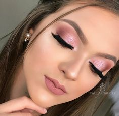 Click the link for more information on step by step eye makeup - My best makeup list Pink Eyeshadow Look, Pink Eye Makeup, Neutral Makeup, Eyeshadow Makeup, Makeup Cosmetics, Makeup List, Day Makeup, Cute Makeup, Pretty Makeup