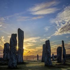 The Callanish Stones, one of the most spectacular megalithic monuments in Scotland.