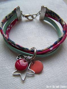 magnifique ! Jewelry Crafts, Jewelry Art, Handmade Jewelry, Jewelry Design, Women Jewelry, Diy Collier, Fibre And Fabric, Bijoux Diy, Bracelet Tutorial