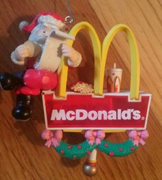 My favorite mcdonalds Christmas ornament the sign lights up