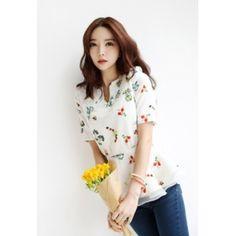 [픽키스트] korea fashion 플라워 트임 블라우스 - 43,000원 by 해피BOX