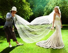 John Galliano, wedding dress - Bride Kate Moss - 1920\'s fashion ...