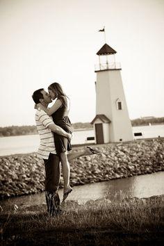 Hefner Lighthouse Engagement