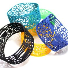 3d printed bracelets 'Second skin' By Mutating Creatures 2012
