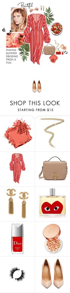 """""""honey peony"""" by moonhoney ❤ liked on Polyvore featuring Ultimate, Bobbi Brown Cosmetics, By Terry, Johanna Ortiz, Mulberry, Comme des Garçons, Christian Dior, The Body Shop, Maison Margiela and Gucci"""