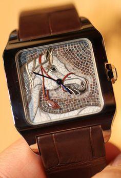 Cartier Santos Dumont Horse watch