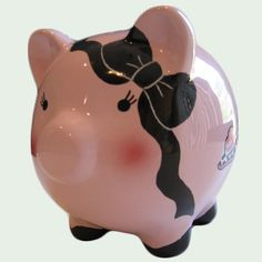 Largest Variety of Piggy Banks Anywhere! Traditional Ceramic Piggy Banks in different sizes and colors. Pink Piggy Bank, Pig Bank, Credit Repair Services, Money Bank, Cute Piggies, Different Shades Of Pink, This Little Piggy, Great Hobbies, Pottery Painting