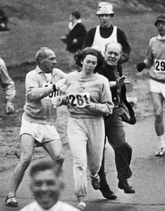 Kathrine Switzer entered and completed the Boston Marathon in 1967, five years before women were officially allowed to compete in it. Other ...