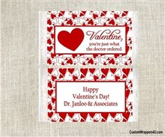 Valentine's Day popcorn wrappers