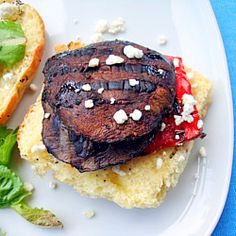 Balsamic Portobello Mushroom Burgers - a tasty and easy vegetarian alternative for the grill! #foodgawker