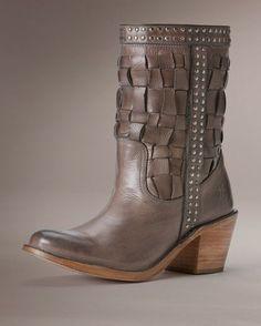 Womens Carmen Woven Short Boot - Grey