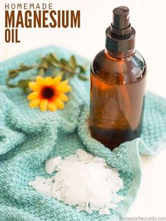 Magnesium oil is my secret for hair, for sleep and less stress - plenty of benefits, no side effects! Use this recipe to make it and not buy it! :: DontWastetheCrumbs.com
