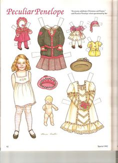 Sew Beautiful paper doll Penelope 1 by Lagniappe*Too, via Flickr