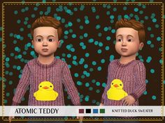 Toddler Knitted Duck Sweater by AtomicTeddy at TSR • Sims 4 Updates