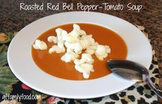 Roasted Red Bell Pepper-Tomato Soup: gluten-free & dairy-free!