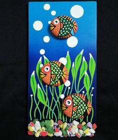 Beach Crafts, Diy And Crafts, Crafts For Kids, Arts And Crafts, Stone Crafts, Rock Crafts, Clay Crafts, Pebble Painting, Pebble Art