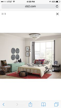 Bedroom idea from CB2