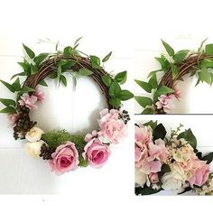 Floral Artificial Wreath Rose Flower Door Window Hanging Home Wedding Decor