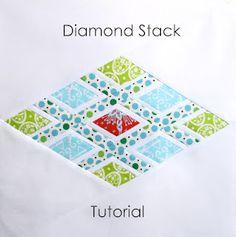 Six White Horses: Diamond Stack Block - Tutorial