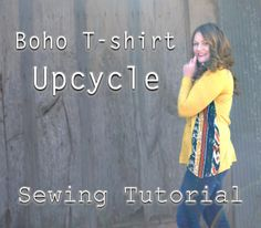Easy Boho T-shirt Refashion (sewing tutorial) ~ Sews n Bows