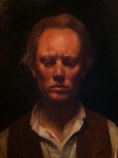 Self Portrait in progress  Rick Lacey 2015
