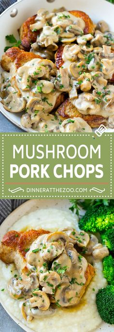 Mushroom Pork Chops Recipe | Boneless Pork Chop Recipe | Pork Chops with Mushroom Sauce