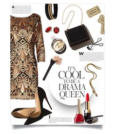 """drama queen."" by linds-rae ❤ liked on Polyvore featuring Christian Louboutin, Emma Watson, Vita Fede, Chanel, Napier and Bobbi Brown Cosmetics"