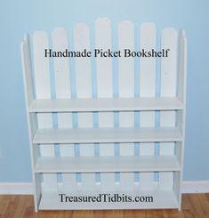 Handmade Picket Bookshelf – Treasured Tidbits by Tina Backpack Organization, Entryway Organization, Home Organization Hacks, Paper Storage, Diy Supplies, Fall Diy, Simple House, Bookshelves, Christmas Diy
