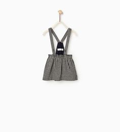 Image 1 of GINGHAM CHECK SKIRT WITH STRAPS from Zara