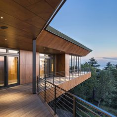 Golden View Residence Balcony French Doors - Architect Name: Steven Bull Architecture Firm: Workshop AD Photography: Kevin G. Timber Panelling, Timber Cladding, Exterior Cladding, Casa Patio, Thermal Comfort, Curved Walls, Construction Types, Ground Floor Plan, Building Structure