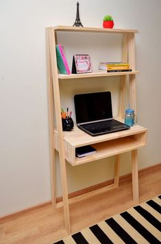 Diy Pallet Furniture, Diy Furniture Projects, Diy Pallet Projects, Study Room Decor, Room Ideas Bedroom, Bedroom Decor, Home Office Design, Home Office Decor, Diy Home Decor