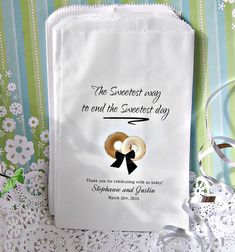 Personalized Wedding Donut Bags - Wedding Doughnut Bags - Donut Bar Buffet - Sweetest Day D03-P199