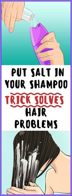 Just Put Salt in Your Shampoo Before Showering � This Simple Trick Solves One of the Biggest Hair Problems Wellness Tips, Health And Wellness, Health Care, Health Fitness, Health Foods, Hair Issues, Oily Hair, Health Advice, Health Articles