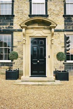 Stunning entry. #black #door