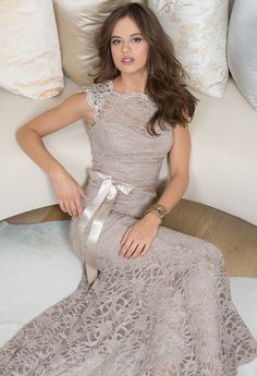Bridesmaid dress: Glitter Lace Dress with Capped Sleeves from Camille La Vie and Group USA Lace Bridesmaid Dresses, Wedding Bridesmaids, Prom Dresses, Bridesmaid Color, Lace Dresses, Bride Dresses, Wedding Attire, Wedding Gowns, Pretty Dresses
