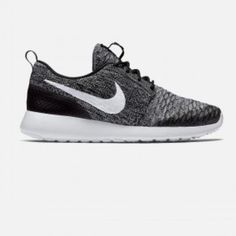 Brand New Nike fly knit Roshe Runs Brand new never been worn women's Nike fly knit Roshe runs. They are a size 8 but run half a size too big so fit 8.5. I'm a true 8 so I have to sell  Nike Shoes Sneakers