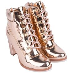 a65c0af23ab Cape Robbin High Chunky Heel Metallic Shiny Lace Up Booties in Silver