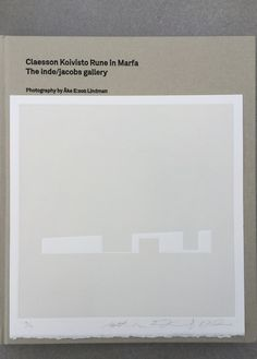 Print by Claesson Koivisto Rune of the inde/jacob gallery in Marfa. Available.